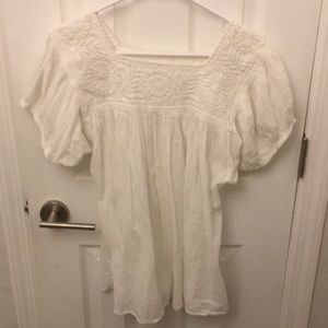 Vintage Mexican Peasant Top w/ Embroidery M/L